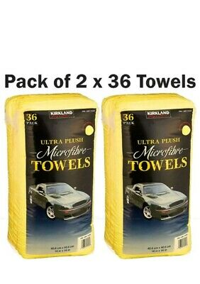 Kirkland Microfibre Ultra Plush Microfiber Car Cloth Pack of 2 x 36 Towels