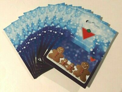 CANADIAN TIRE GIFT CARD BRAND NEW  VNR-GB-01 - Pack of 10 - NO VALUE