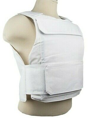 VISM Discreet Plate Carrier Vest MED-2XL Tactical Shooting Range Hunting WHITE-