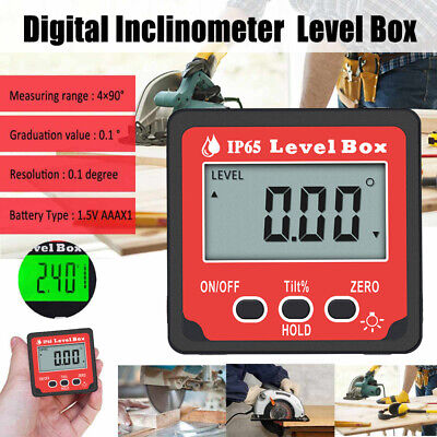 4x90° LCD Digital Level Box Protractor Angle Finder Gauge Inclinometer Backlight