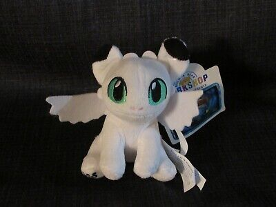 Build a bear How to Train Your Dragon Black And White Nightlight Green Eyes NWT