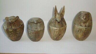 RARE Ancient Egyptian  Set Of 4 Canopic Jars