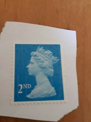 100 x 2nd Class Security Stamps Unfranked ON Piece F/V £65.00 BLUE lot 2