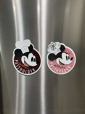 Walt Disney World Food & Wine Annual Passholder Magnets - 2018 & 2019