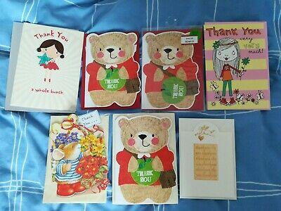 Selection of 7 Thank You cards with envelopes