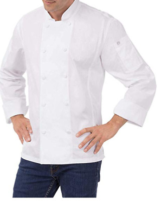 Chef Works Bowden Coat White Xl Long Sleeve Cool Vent Panels New Nwot