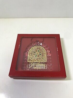 Vintage Gorham French Cathedral Christmas Tree Ornament