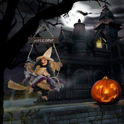 Details about  /Happy Halloween Hanging Tag Witch Pendant Doll for Party Wall Door Hang Decor d2