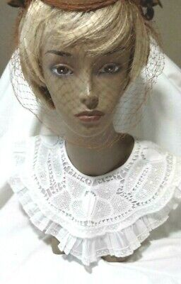 Vintage Collection of Lace & Crocheted Collars Lot of 7 collars 5 adult,2 Childs