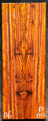 """Cocobolo #606 Rosewood Knife Scales 8""""x 1.5""""x 7/16""""see 100 woods in my store"""