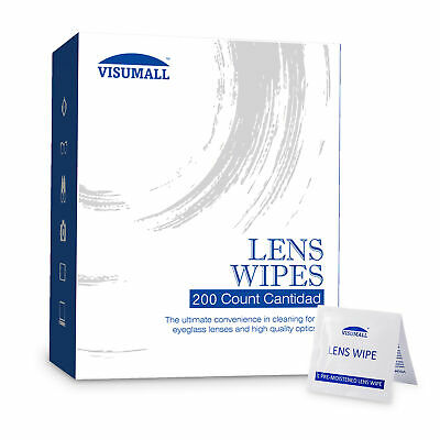 200Ct Pre-Moistened Lens Cleaning Wipes for Glasses Camera Phone Cleaner New