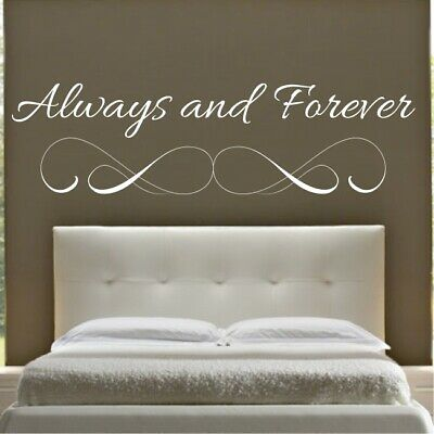 WALL QUOTE Personalised Always /& Forever Names Sticker WALL QUOTE STICKERS N106