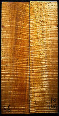 """Curly Koa #186 Knife Scales 8""""x 2"""" x 3/8"""" see 100 species in my store"""