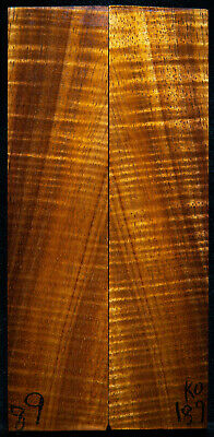 """Curly Koa #189 Knife Scales 8""""x 1.8""""x 5/16"""" see 100 species in my store"""