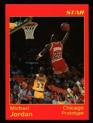 Michael Jordan Prototype Basketball Card Star Company Dunking W/ Magic Johnson!
