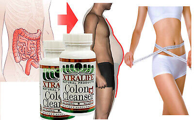 Natural Colon Detox Cleanse Rapid Weight Loss Toxin Herbal Supplement 180 Pills