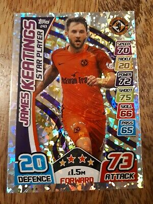 James Keatings Dundee United Star Player Card, SPFL Match Attax 17/18