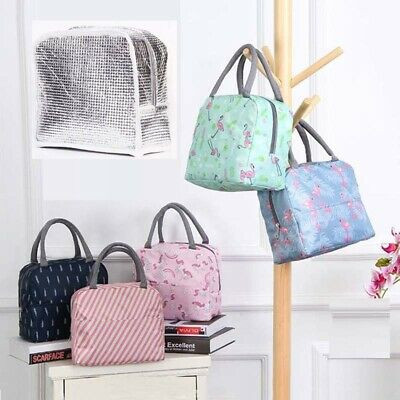Womens Mens Kids Lunch Bags Adults Insulated Cool Bag Picnic Bag School Lunchbox
