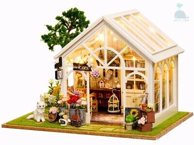 DIY Handcraft Miniature Project Kit Dolls House  My Secret Little Greenhouse.