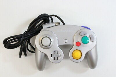 Official Nintendo GameCube Controller Pad Silver Cord Damaged Tight T3 GO893