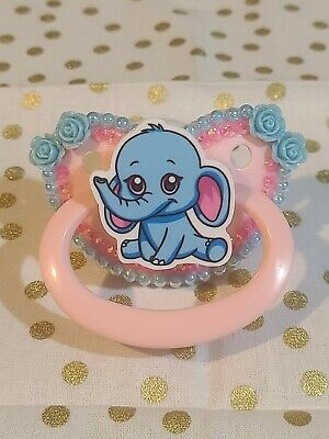 Cute elephant Adult Pacifier ABDL DDLG CGL (Customizable Handle)