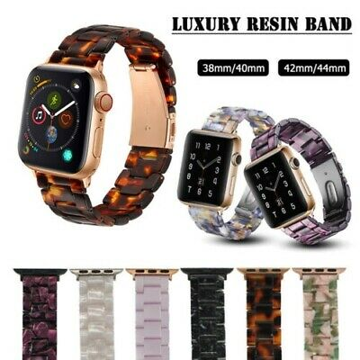 Luxury Resin Strap iWatch Band For Apple Watch Series 5 4 3 2 1 42/44mm 38/40mm