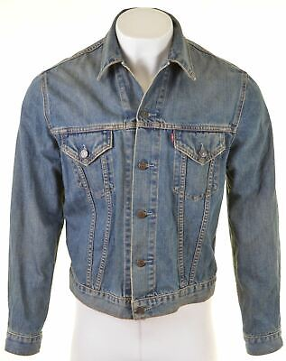 Levi S Mens Denim Jacket Size 42 Xl Blue Cotton Slim Fit Go27 36 95 Picclick Uk