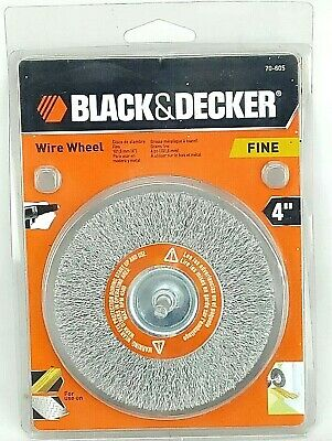 Black & Decker 4 Inch Wire Wheel -Fine Bristles