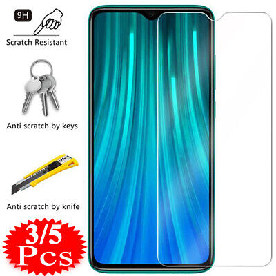 5X Tempered Glass Screen Protector For Xiaomi Redmi Note 9S 9 8 7 6 5 Pro 8A 7A