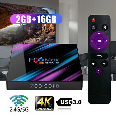 H96 Max Android9.0 Quad Core 4K HD 2.4G/5G WiFi 2+16GO lecteur Multimédia TV BOX