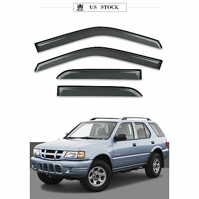 Tape-On Rain Guard Window Visor Light Grey 4pcs For 1991-1997 Isuzu Rodeo