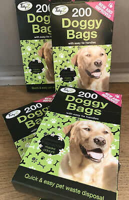 Tidyz Doggy Bags Fragranced with Easy Tie Handles X 3 Boxes - 600 Bags Standard