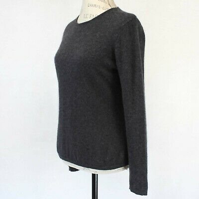 NWT $160 Lord /& Taylor 2-ply Luxurious Cashmere Sweater Black PM Medium Petite