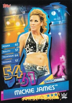Mickie James - Smackdown, Topps 2020 Slam Attax Reloaded, Rare Wwe Card.