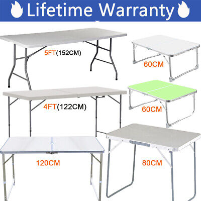 Folding Camping Table Aluminium Picnic Portable Party BBQ Tables Indoor Outdoor