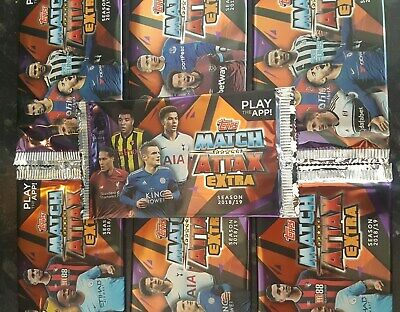 7 x Topps Match Attax Extra 2018/19 season 7 promotional 5 card packs Unopened