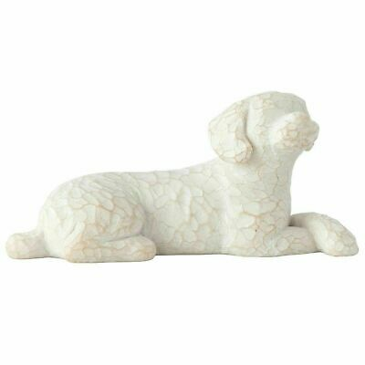 Willow Tree Hand Painted Resin Figurine, Gift Ornament, Lying Down - Love My Dog