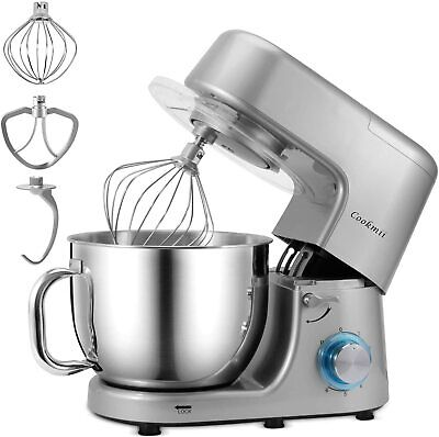 Cookmii Stand Mixer Electric Food Mixing 7.2L Bowl Dough Hook Whisk 6 Speed1800W