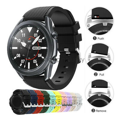 Rugged Silicone Sport Bracelet Watch Band Strap For Samsung Galaxy Watch 3 45mm