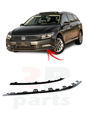 VW PASSAT B8 2014-2018 FOR FRONT BUMPER LOWER CHROME MOLDING TRIM PAIR SET
