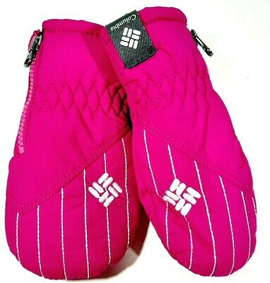 Columbia Infant Mittens Gloves Pink One Size Nylon Fleece