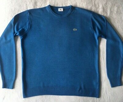 BNWT LACOSTE AH2995 DARK CHARCOAL JUMPER PURE NEW WOOL CREW NECK SIZE XL WEATER