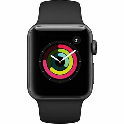 Apple Watch Series 3 GPS 38 mm Space Gray Aluminum Case with Black Sport Band -