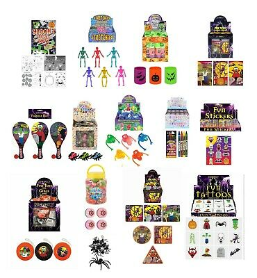 30 - 100 Halloween Party Bag Fillers Mixed Trick Treat Lucky Dip Toy Prizes