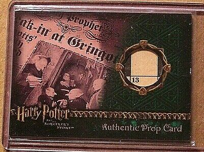 Harry Potter-SS-Screen Used-Movie-Film-Authentic-Prop Card-The Daily Prophet