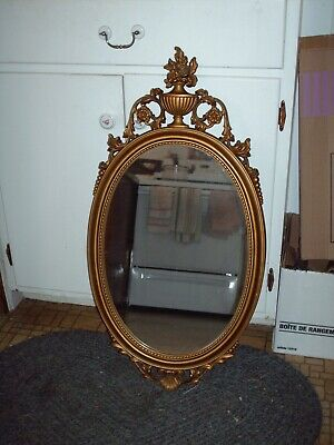 Syroco Mirror Ornate Vintage Hollywood Regency Antique Gold