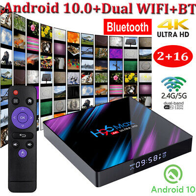 H96 Max Android 10.0 2+16GB RK3318 Quad Core Smart TV Box HD 4K VP9 H.265 Filme