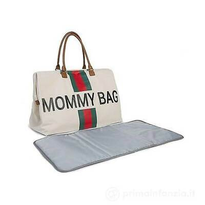 Borsa Fasciatoio Mommy Bag Canvas Rossa e Verde Childhome - CWMBBCOGR