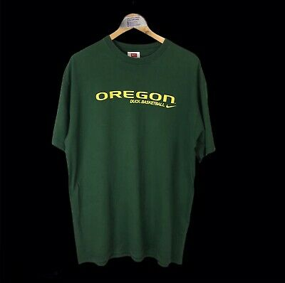 Vintage Nike Team Oregon Ducks Basketball Tshirt Green L