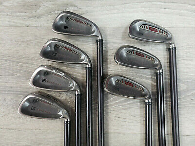 Complete Set of RH Wilson Deep Red R-Flex Irons, Driver, 2 Fairways + Putter